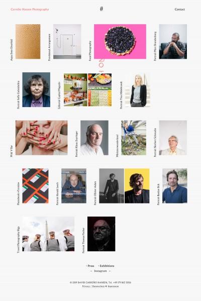 Carreño Hansen Photography Website