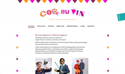 Theater Coq au Vin Website