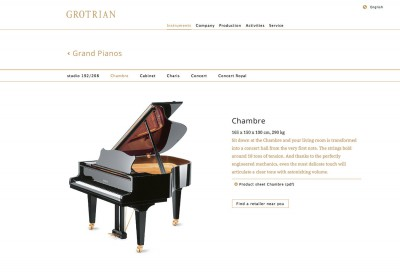 Grotrian-Steinweg Website