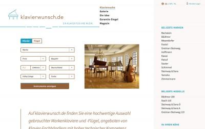 Klavierwunsch Website