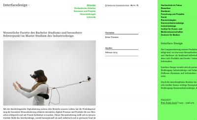 Muthesius Kunsthochschule Website