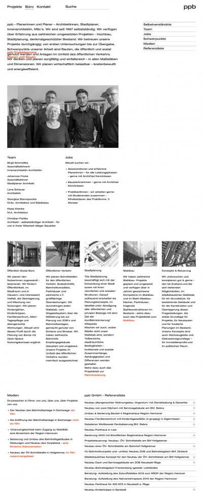 ppb Projektservice Planen und Bauen Website